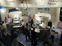 Exhibit managed by Kellie McKeown at IBC 2000